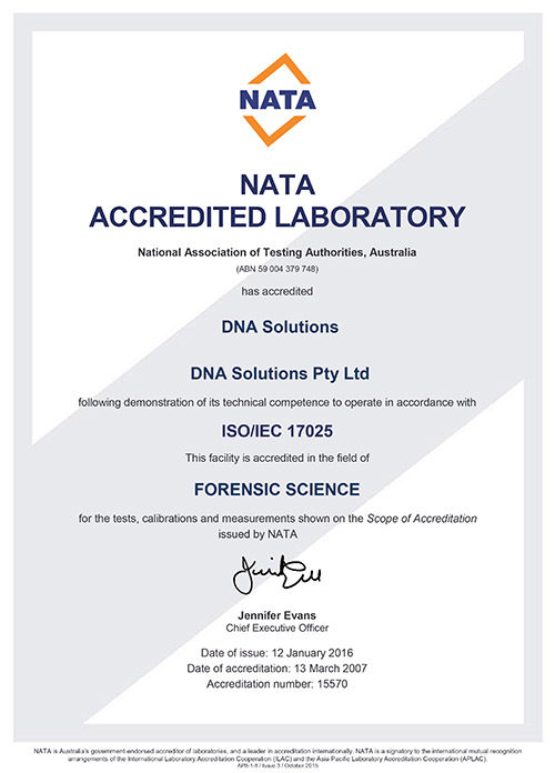 Dna solutions australias 1 for dna tests quality and accredited laboratory our laboratory is nata accredited to perform legal dna paternity testing thecheapjerseys Images