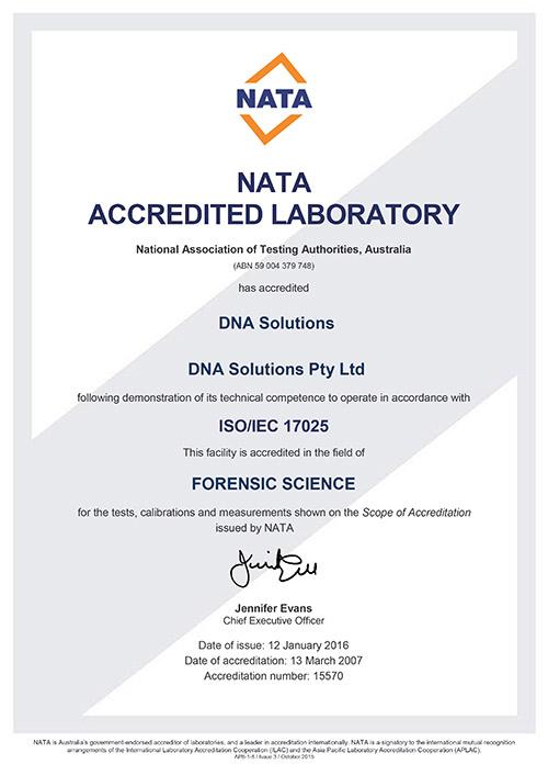 NATA Accredited Laboratory